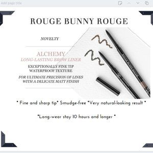 Rouge Bunny Rouge Long-lasting Brow Liner •